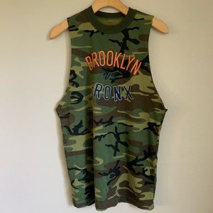 Brooklyn vs Bronx cut off camo tee urban outfitter